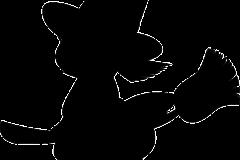 halloween boszorkány rajz seprű