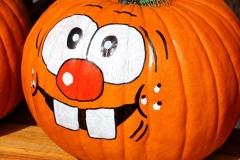 Halloween festett tök vidám