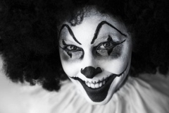 Halloween smink bohóc