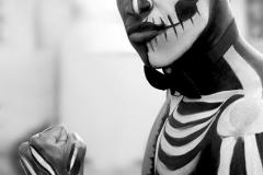 Halloween smink csontváz