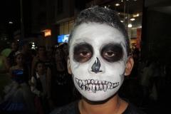 Halloween smink férfi zombi