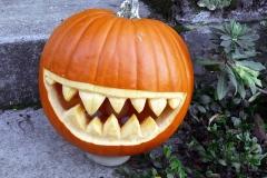 Halloween tök vicsorgó