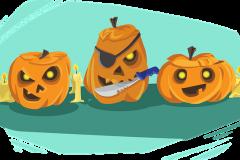 Halloween tök rajz kalózok