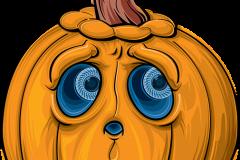 Halloween tök rajz meglepődött