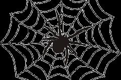 halloween pók rajz háló