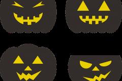 Halloween tök sablonok