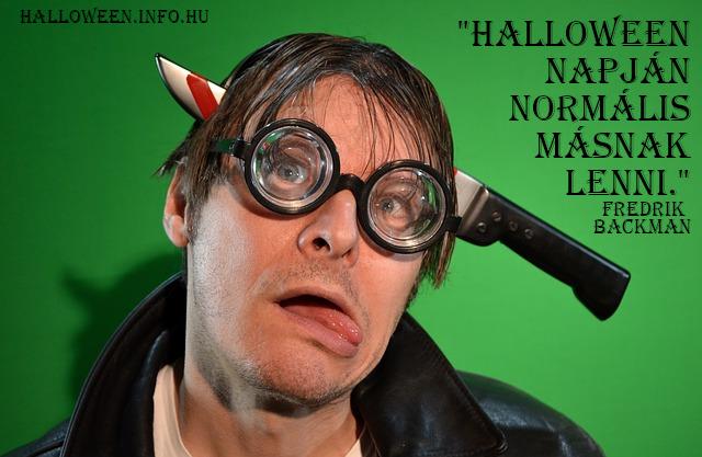 Halloween idézet normális