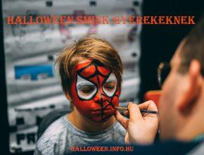 Halloween smink gyerekeknek