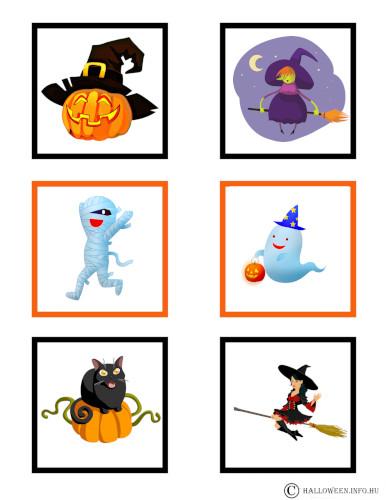 halloween memória játék kicsi