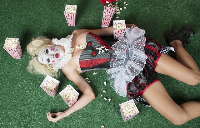 popcorn, halloween