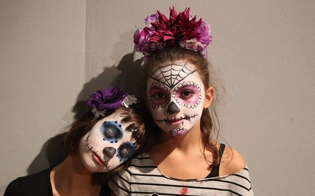 mexikói halottak napja smink