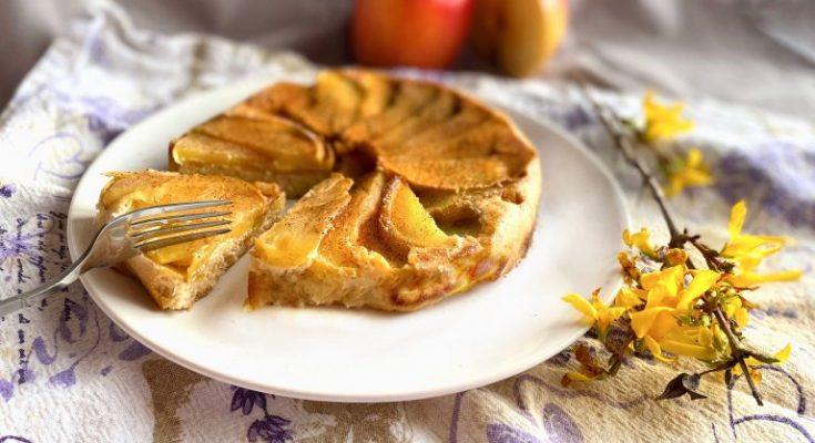 halloweeni fordított almás süti